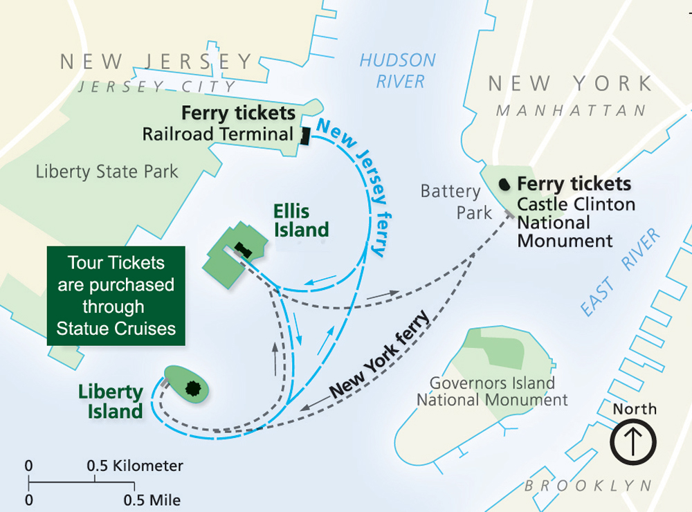 Ferry Map Visit