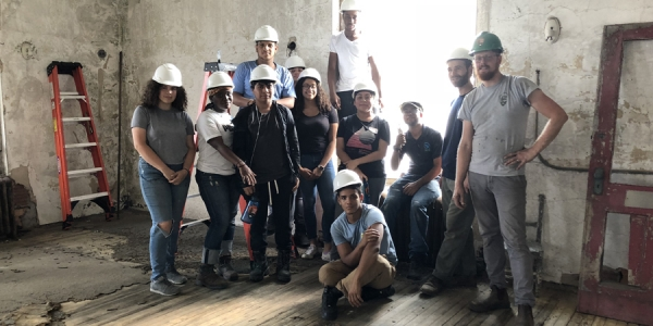 Stephen T. Mather Building Arts and Craftsmanship High School and Save Ellis Island team up to do just that.